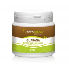 Guarana en poudre en pot PEHD inviolable de 250 grammes lot de 4
