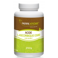 Acide L-Ascorbique en poudre en pot PEHD inviolable de 250 grammes lot de 2