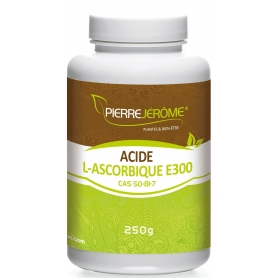 Acide L-Ascorbique en poudre en pot PEHD inviolable de 250 grammes lot de 24