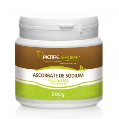 Ascorbate de Sodium en pot en poudre PEHD inviolable de 500g le lot de 8
