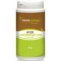 Acide L-Ascorbique en poudre en pot PEHD inviolable de 1 kg lot de 3