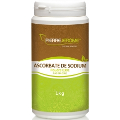 Ascorbate de Sodium en pot en poudre PEHD inviolable de 1 kg lot de 3