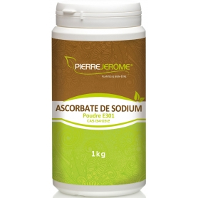 Ascorbate de Sodium en pot en poudre PEHD inviolable de 1 kg lot de 6