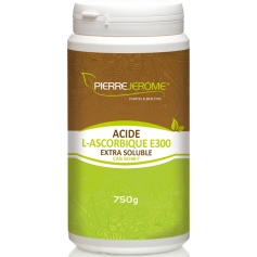 Acide L-Ascorbique Extra Soluble en poudre en pot PEHD inviolable de 750g lot de 2