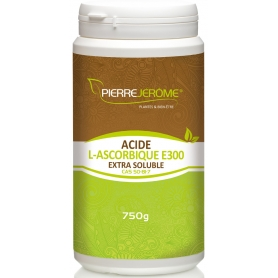 Acide L-Ascorbique Extra Soluble en poudre en pot PEHD inviolable de 750g lot de 3