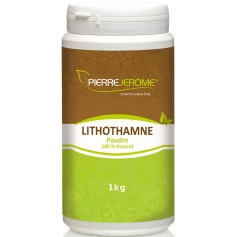Lithothamne en poudre en pot PEHD inviolable de 1 kg lot de 2