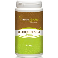 Lécithine de soja en poudre en pot PEHD inviolable de 500 grammes lot de 4