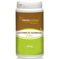 Lécithine de tournesol en poudre en pot PEHD inviolable de 500 grammes lot de 2