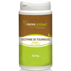 Lécithine de tournesol en poudre en pot PEHD inviolable de 500 grammes lot de 6