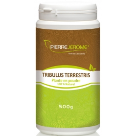 Tribulus Terrestris en poudre en pot PEHD inviolable de 500 grammes lot de 3