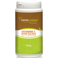 Vitamine C Extra Soluble en poudre en pot PEHD inviolable de 750g lot de 6