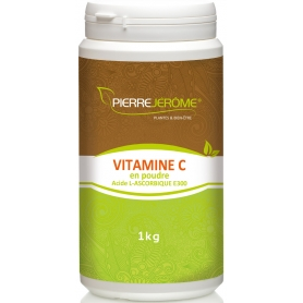Vitamine C en poudre en pot PEHD inviolable de 1 kg lot de 6