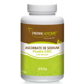 Ascorbate de Sodium en pot en poudre PEHD inviolable de 250g - lot de 2
