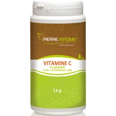 Vitamine C en poudre en pot PEHD inviolable de 1 kg lot de 4