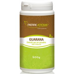 Guarana en poudre en pot PEHD inviolable de 500 grammes lot de 6